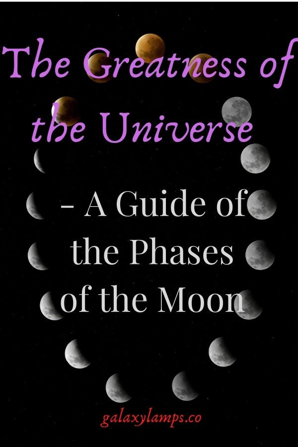The Greatness of the Universe - A Guide of the Phases of the Moon  #moonphases moon phases art moon phases meaning moon phases aesthetic.