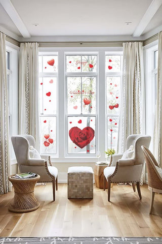Valentine's Day Window Clings Heart Stickers