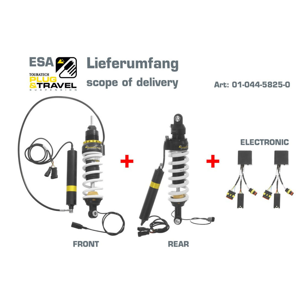 Front & Rear Shock Absorber ESA / Plug & Travel Explore - BMW R1200GS 10-12 with WP Shock