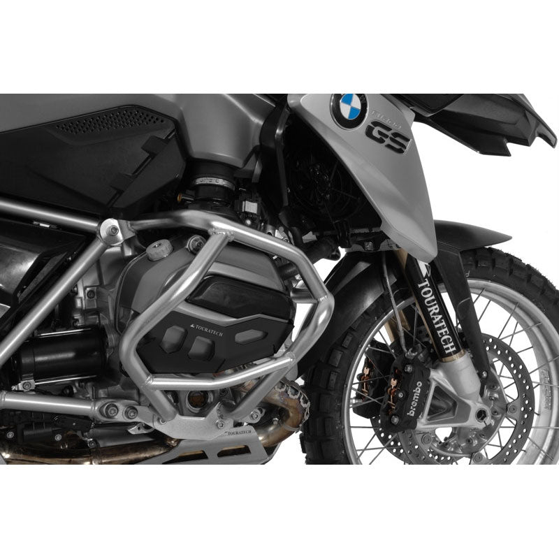 Cylinder Protection Aluminum Black with Touratech Crash Bars - BMW R1200GS 13- /R 15- /RS /RT 14-