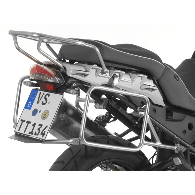 Stainless Steel Silver Side Case Racks - BMW R1200GS -12, R1200GSA -13