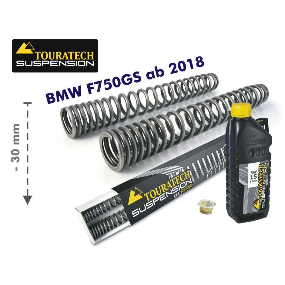 30mm Lowering Progressive Fork Springs - BMW F750GS 2018 and up