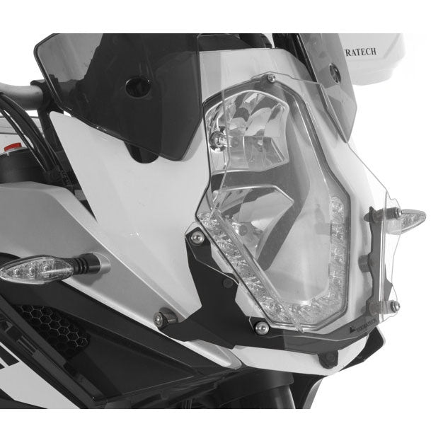 Headlight Guard Makrolon Quick-Release - KTM Adventure 1050, 1090 /R, 1190 /R all years & 1290 up to 2016