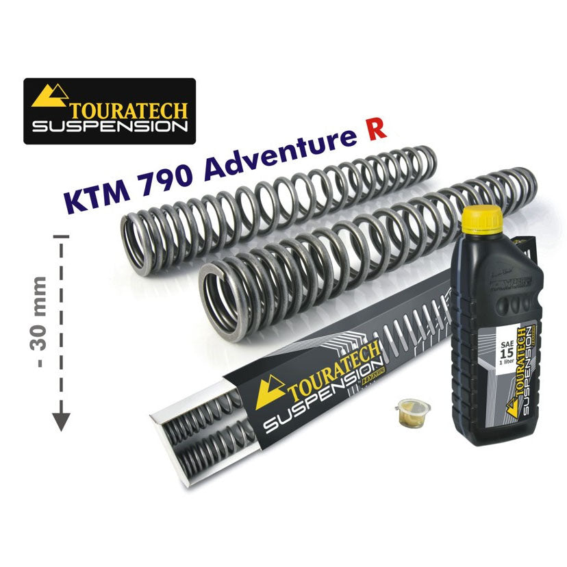 30mm Lowering Progressive Fork Springs - KTM Adventure R 790