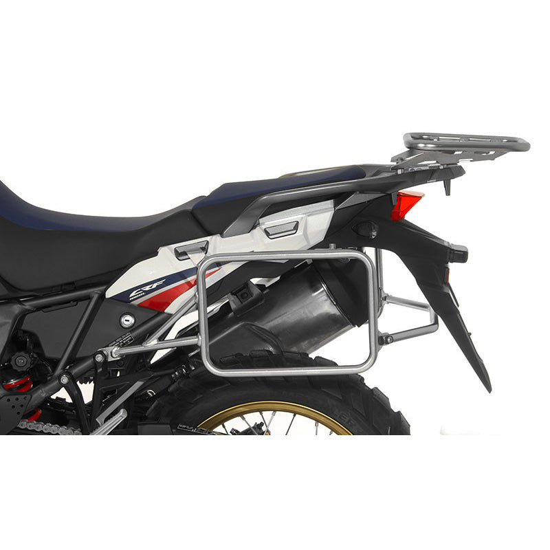 Stainless Steel Silver Side Case Racks - Honda CRF1000L Africa Twin 15-17