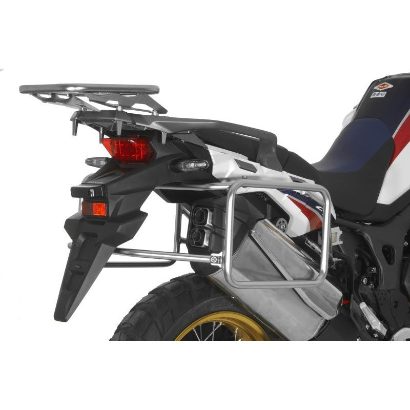 Stainless Steel Silver Side Case Racks - Honda Africa Twin CRF1000L 15-17