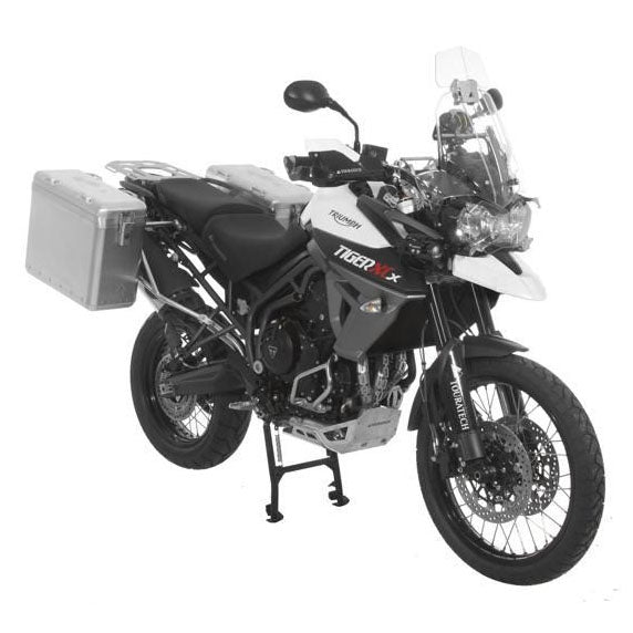 Zega Mundo Side Cases Panniers 31/38 liters Silver Racks - Triumph Tiger 800 800XC/x