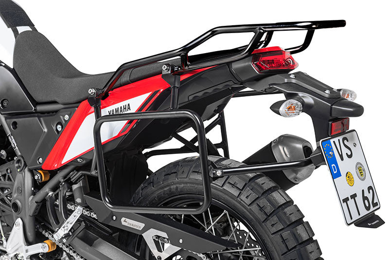 Stainless Steel Black Side Case Racks - Yamaha Tenere 700