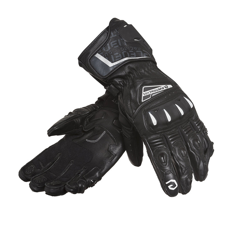 SP-01 Black Men Racing Leather Gloves