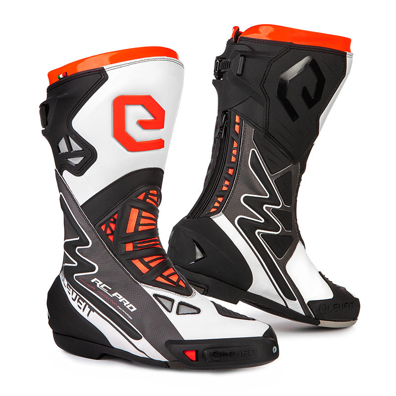 RC Pro White Men Racing Boots