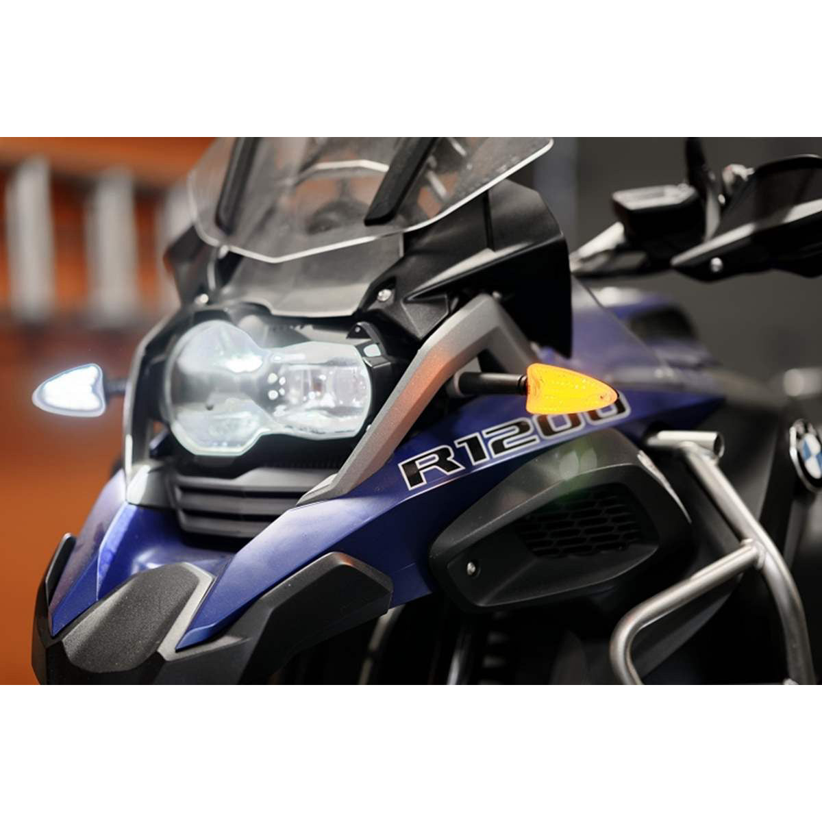 Evolution LED H4 Safety Turn Signal Flashers Inserts - Rear Running Lights BMW R1200GS, G310GS, GSA or RnineT 2018 and up