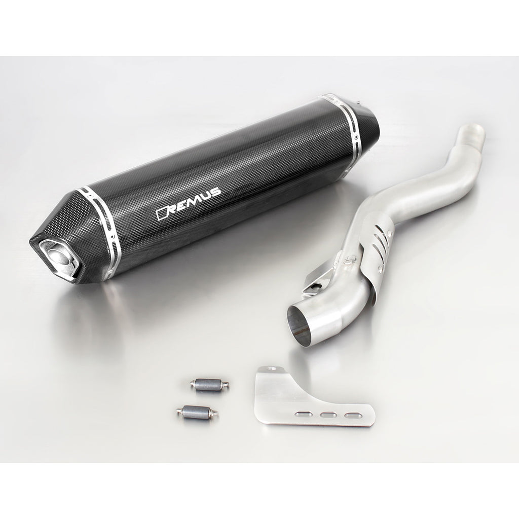 Hexacone Carbon Slip-On Exhaust - Triumph Trophy SE 12-17