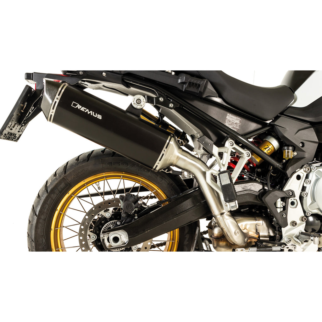 Race Black Hawk SS Black Slip-On, Conn. Tube, Sound Insert Exhaust - BMW F750GS/F850GS 18-20