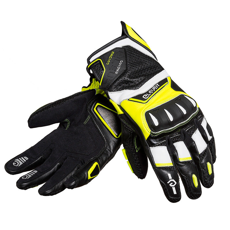 RC-1 Yellow Men Racing Leather Gloves
