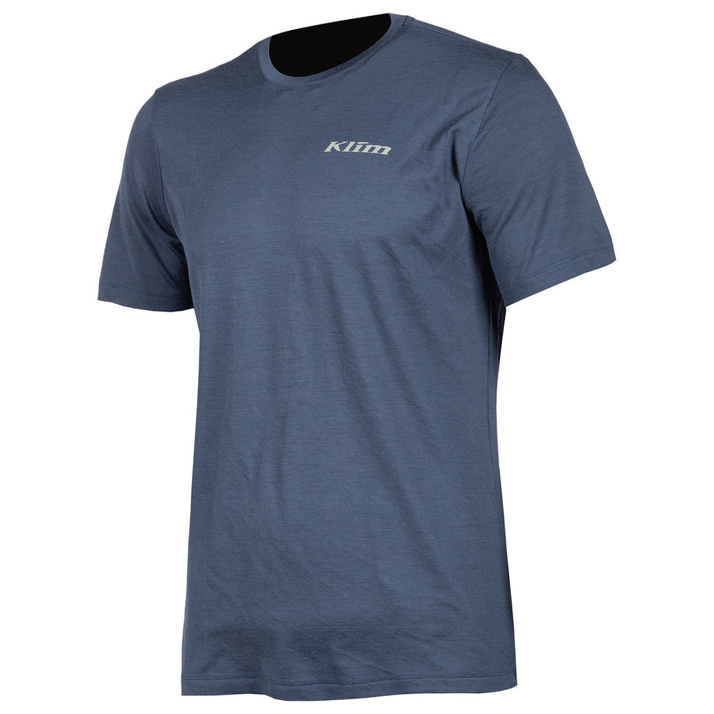 Teton Merino Wool Blue Men Base-Layer Short Sleeves Shirt