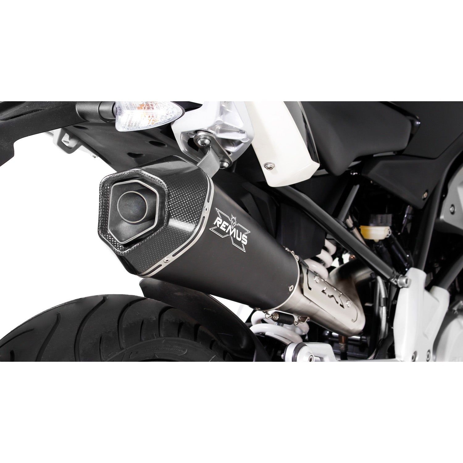 Race Hypercone Stainless Steel Black Complete System Exhaust - BMW G310R 17-20