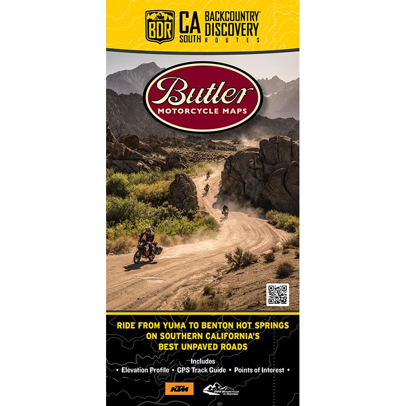 California South CABDR-S Backcountry Discovery Route Map