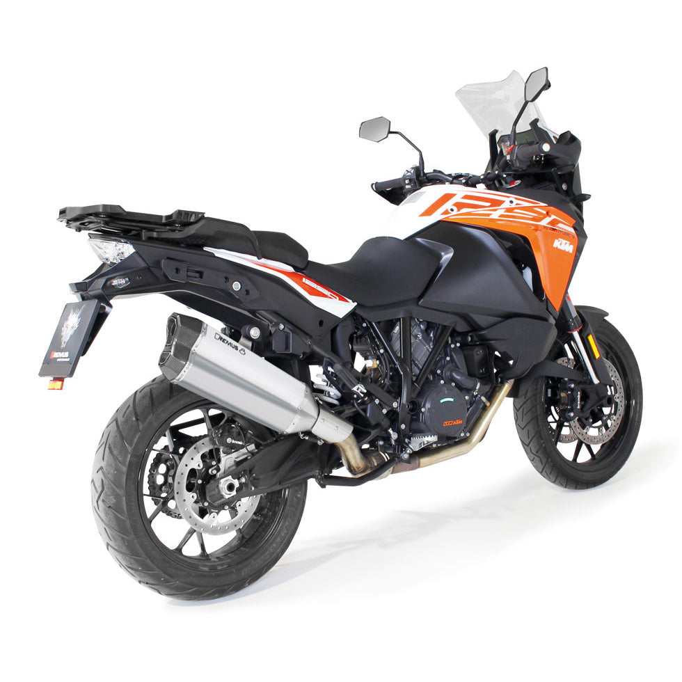 Race Remus 8 Stainless Steel Matt Slip-On, Sound Insert Exhaust - KTM Adventure 1290 S/R/T 17-20
