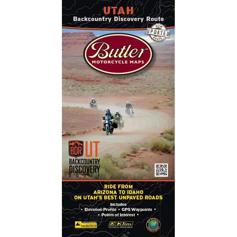 Utah UTBDR Backcountry Discovery Route Map - 2nd Edition