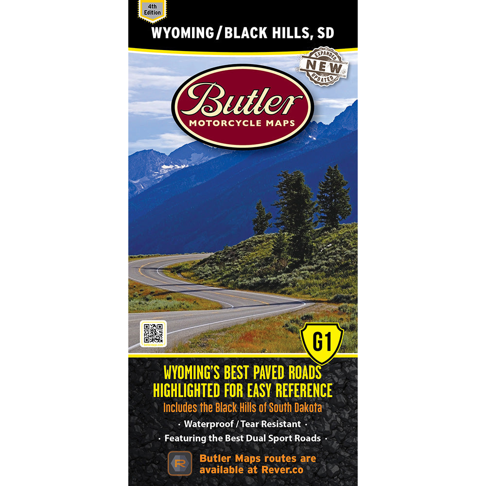 Wyoming and the Black Hills of South Dakota G1 Butler Map - 4th Edition