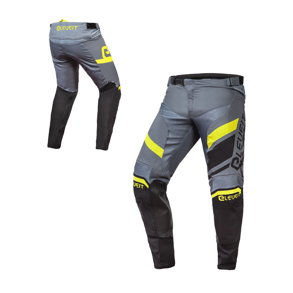 X-Legend Grey/Yellow Men Pant