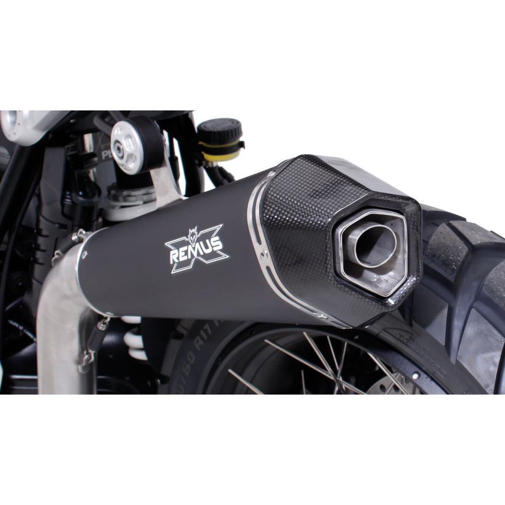 Race Hypercone Stainless Steel Black High Slip-On, Conn. Tube Exhaust - BMW RnineT 16-20