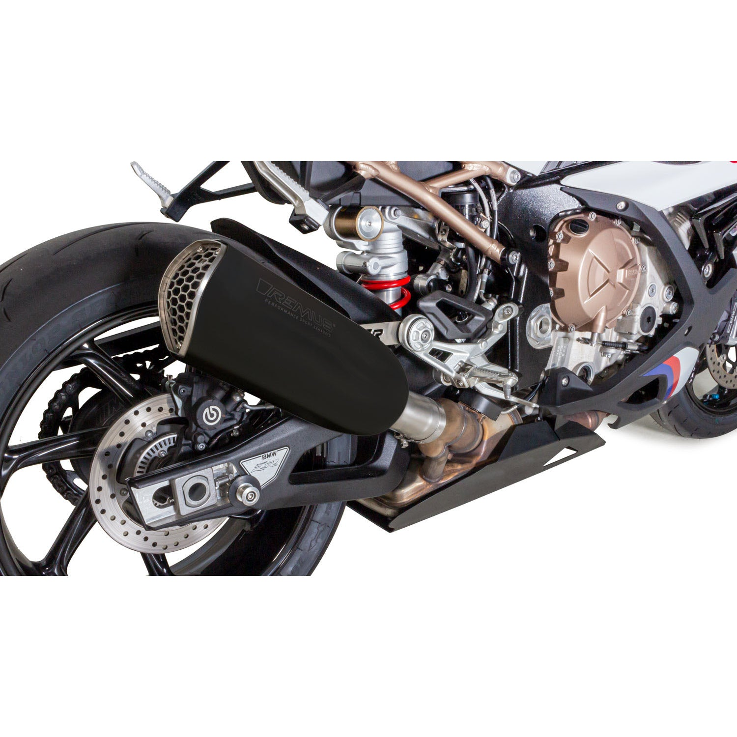 Race NXT SS Black Slip-On, Sound Insert Exhaust - BMW S1000RR 19-20