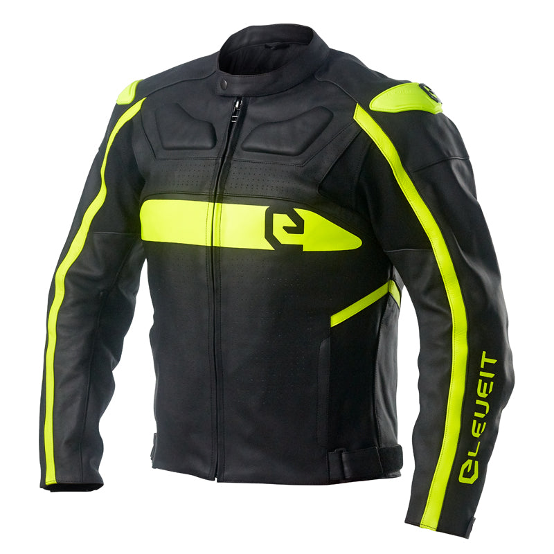 RC Pro Black/Yellow Men Racing Leather Jacket