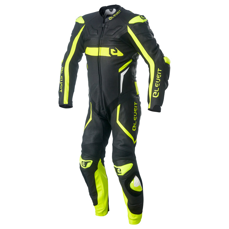 RC Pro Black/Yellow Men Racing Leather Suit