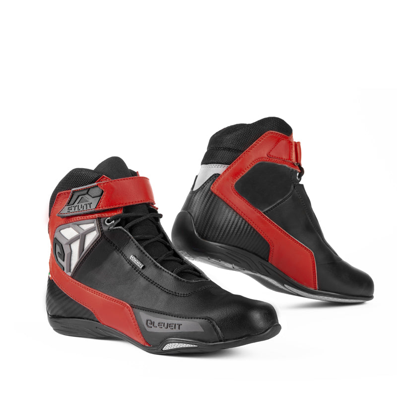 Stunt WP Black/Red Men Touring Sport Boots