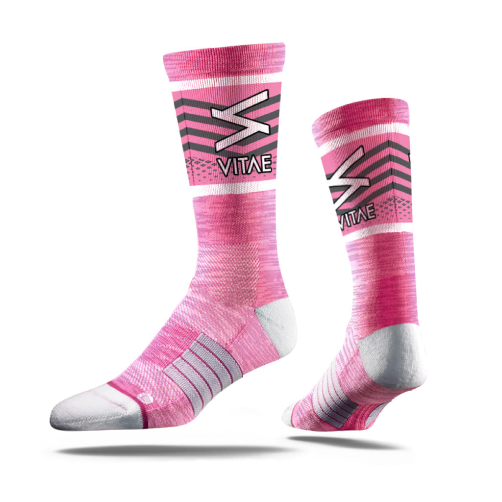 Vented Pink Adult Technical Socks