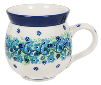 12 oz. Belly Mug (Teal Wreath) | A070-1293X