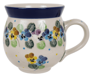 12 oz. Belly Mug (Pastel Pansies)