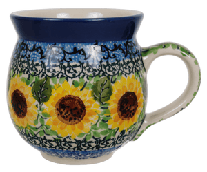 12 oz. Belly Mug (Sunflowers)