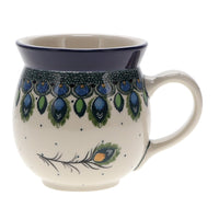 Large Belly Mug (Peacock Plume)