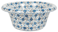 Large Brim Bowl (Floral Blue Filigree)
