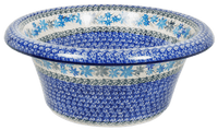 Large Brim Bowl (Dusty Blue Wreath)