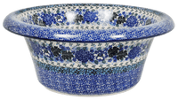 Large Brim Bowl (Hummingbird Bouquet - Blue)