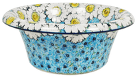Large Brim Bowl (Regal Daisies - Blue)