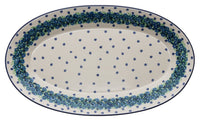 "17.5"" Oval Platter (Teal Wreath)"