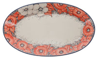"17.5"" Oval Platter (Peach Perfection) 