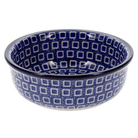 "Shallow 4.75"" Bowl (Blue Squared)"