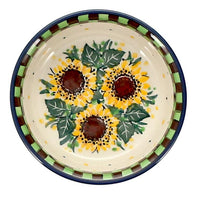 "Shallow 4.75"" Bowl (Checkered Sunflowers)"