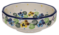 "5"" Multiangular Bowl (Pastel Pansies)"