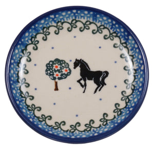 "3.9"" Tiny Plate (Black Stallion)"