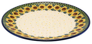 "14.5"" Plate (Checkered Sunflowers)"