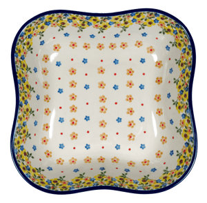 Square Wavy-Edged Bowl/Baker (Garden Delight)