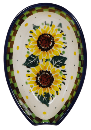 Spoon Rest (Checkered Sunflowers)