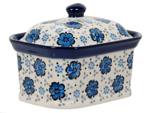 Small Rectangular Canister (Floral Blue)