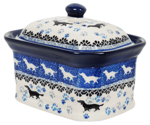 Small Rectangular Canister (Wiener Dog Delight)